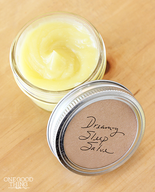 "Make Your Own Sleep Salve For ""Sweet Dreams"" and Soft Feet"